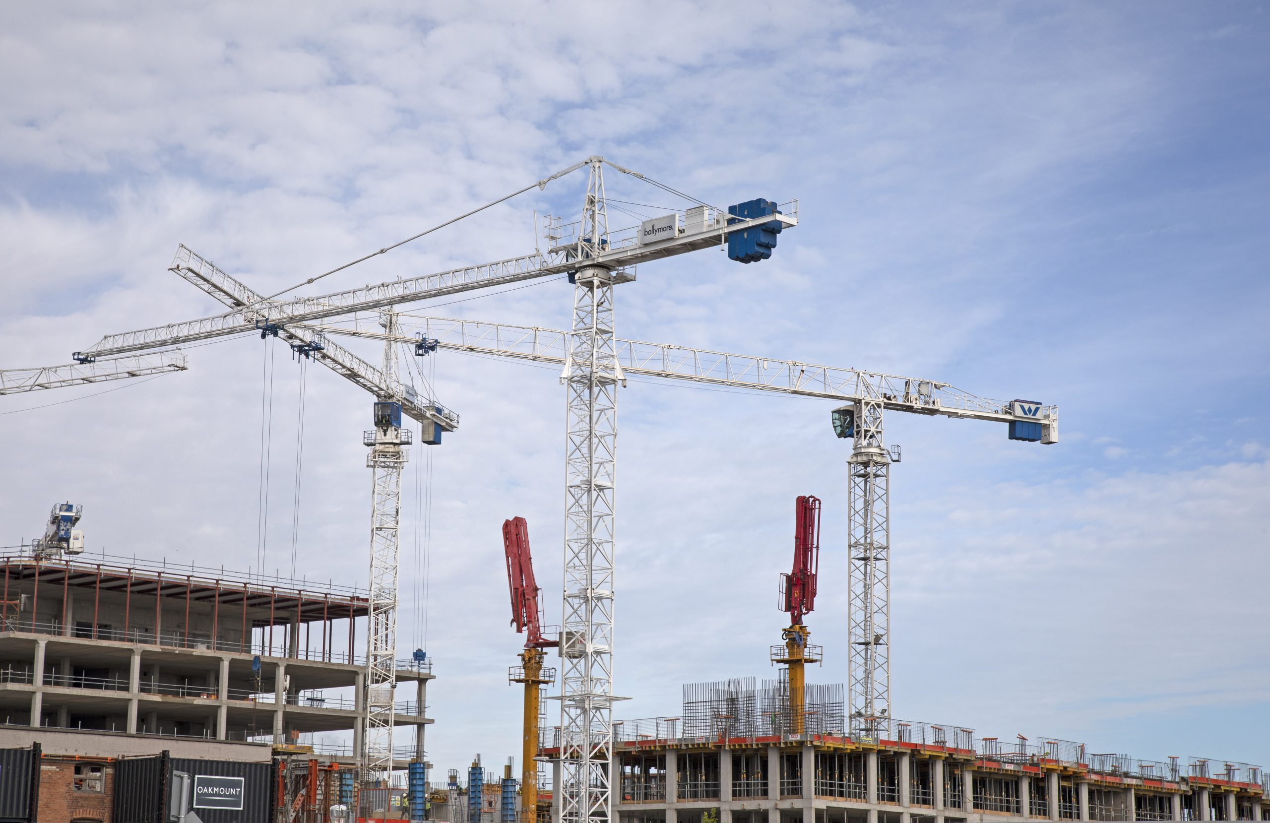 image of cranes in dublin city center